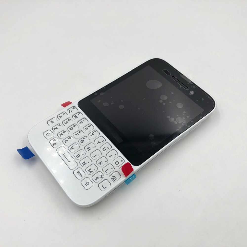 RTBESTOYZ لبلاك بيري Q5 الأصلي الكامل كاملة هيكل للهاتف المحمول غطاء حالة + لوحة المفاتيح + الجانب زر + شاشة LCD