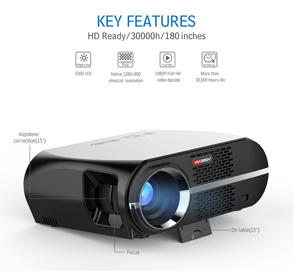 3200lumens Hd Home Cinema Theater Multimedia 3d 1080p Led: Phones Rc Cars Bluetooth Headphones Toys Speakers Dones