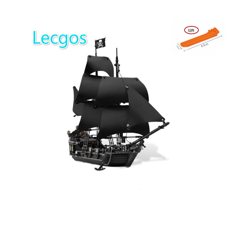 Lecgos 16006 Pirates Of The Caribbean The Black Pearl Ship Model Building Blocks BricksToy Compatible lecgos 4184 1513pcs pirates of the caribbean black pearl general dark ship 1313 model building blocks children boy toys compatible with lego