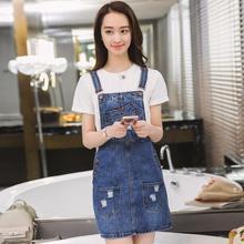 345fdf2e2d Clobee Spring Summer Denim Dresses Jeans Sundresses Korean Dress For Woman