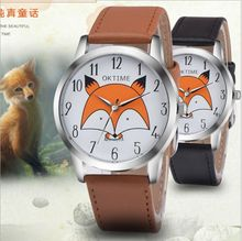 OKTIME Fox Animal Gold Plating Women' Ladies Wrist Watches For Ladies With Japan Movt Waterproof Life Case College students style watche