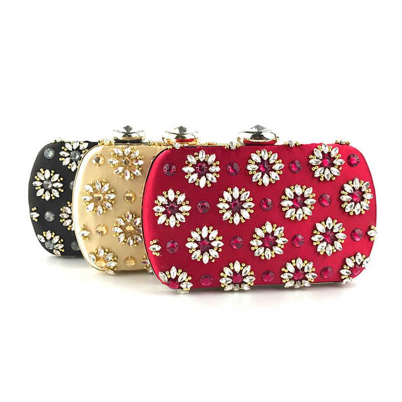 ae4130446356 ... SEKUSA Винтаж ручной вышивки бисером Для женщин клатчи бриллиантами  Свадебная вечеринка Сумки небольшой женский кристалл кошелек ...