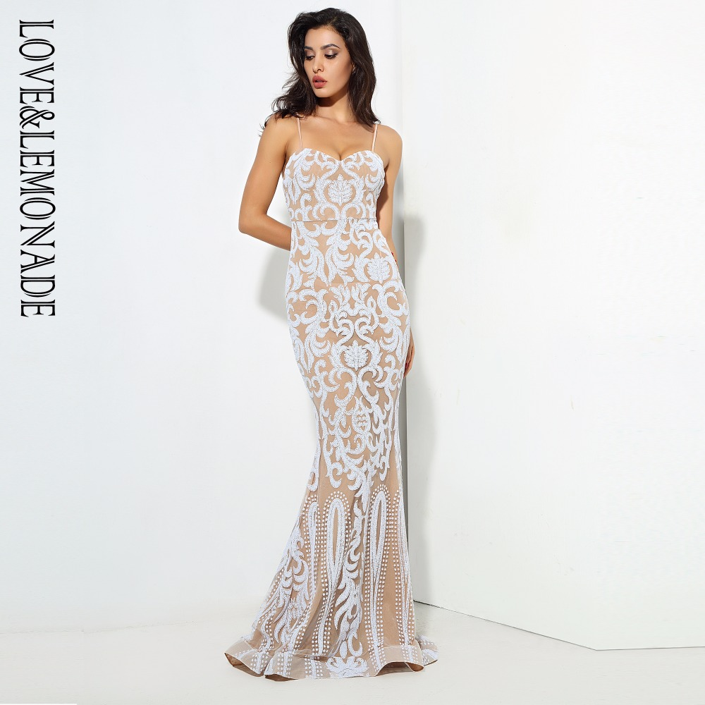 Love&Lemonade  White / Nude Color Geometry  V Collar Long Dresses 2 COLORS LM0683 window valance