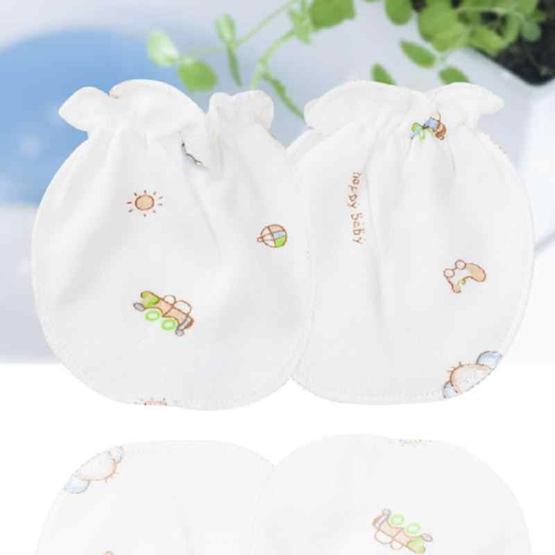 1 пара детских варежек, хлопковый материал для новорожденных, аксессуары для новорожденных, анти-кусающиеся пальцы, царапают лицо случайным образом