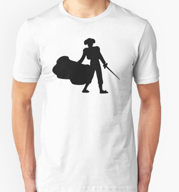 2016 new summer style Brand 100% cotton Short Sleeve Printed Matador t shirt men dress t-shirt men shirts t shirt free shipping