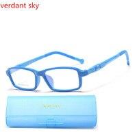 2017 Najnowsze okulary optyczne dzieci Dzieci TR90 Okulary optyczne ramki kolorowe projekt Kauczuk Silikonowy dziecko soczewki Oryginalnym pudełku