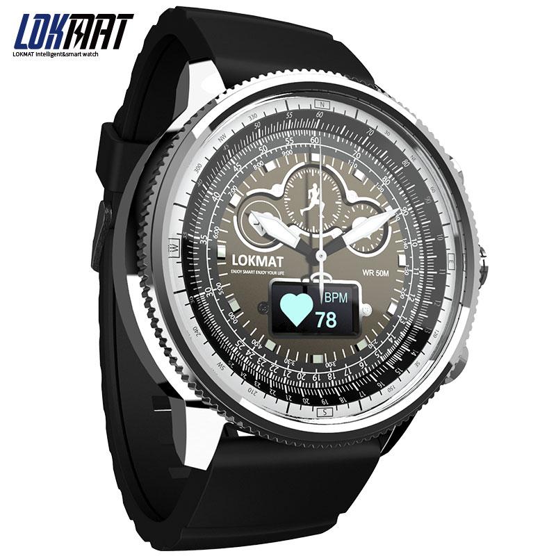 NEW LOKMAT Sport Smart Watch Bluetooth Waterproof pedometer SMS Reminder digital clock smartwatch men for ios Android phone|Smart Watches| - AliExpress
