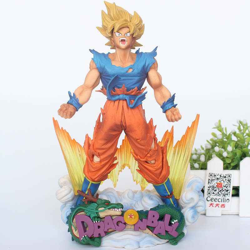 Animation Dragon Ball Z Super Saiyan Goku PVC Action Figure SMSD The Son goku Brush Ver. Collection Model Toys 32cm dragon ball super the super warriors vol 3 figure collection goku black action figure
