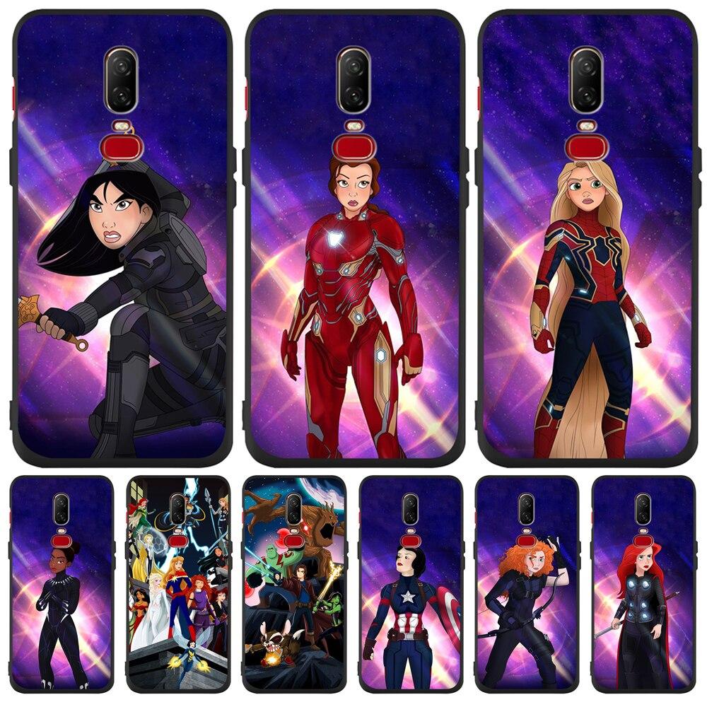Luxury Princess Avengers Marvel cartoon Custom For One plus 5 5T font b 7 b font