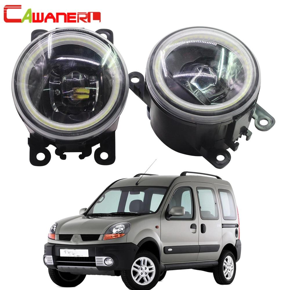 Cawanerl 2 X Car LED Fog Light Angel Eye DRL 12V For Renault Kangoo Grand Kangoo
