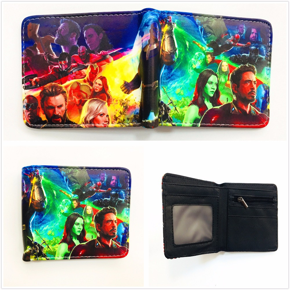 New Arrivel Marvel Comics Avengers The Infinity Gauntlet Wallet Men's Short PU Leather Wallet Bi-fold Credit Card Wallets W978Q 5000 roubles style fold up pu wallet white multicolored