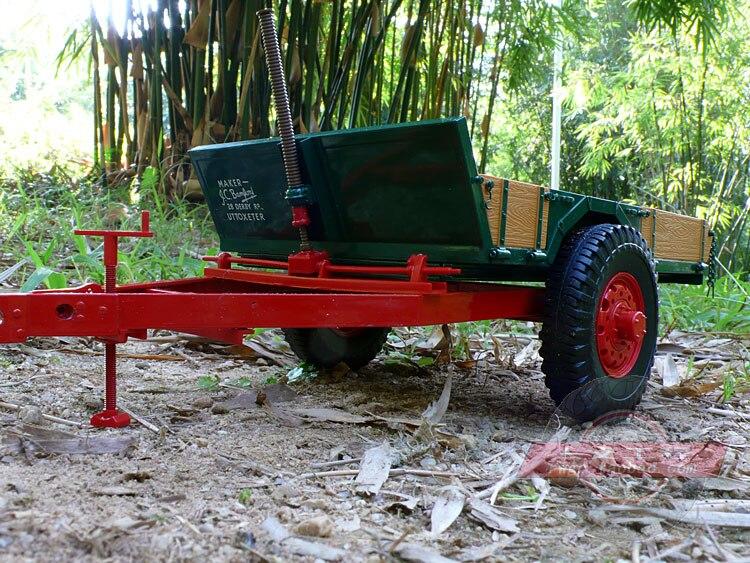 JCB tractor accessories trailer tow truck farm truck alloy model gift French UH 1:16 уровень jcb jbl005