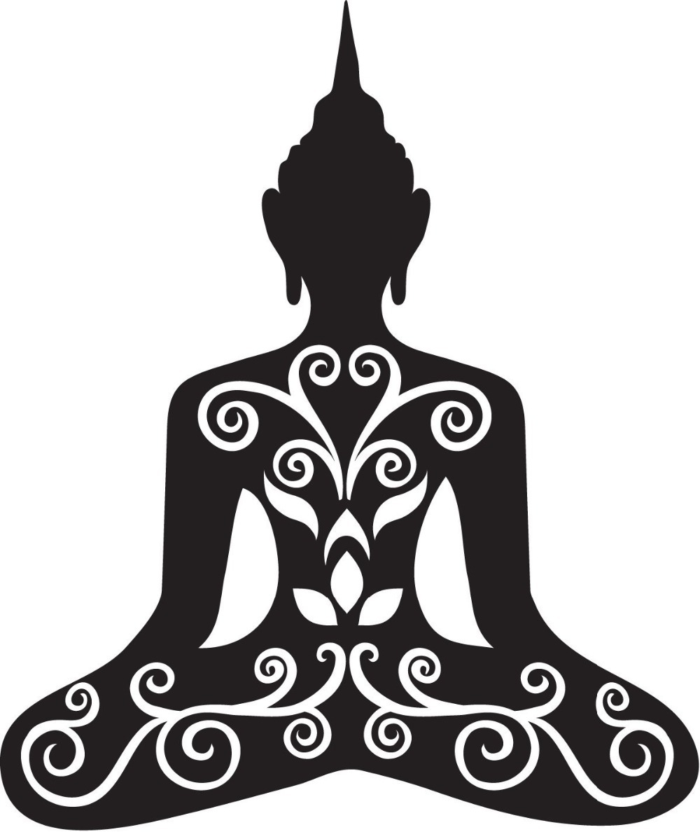 Free Shipping Buddha Flower Om Yoga Vinyl Wall Decal