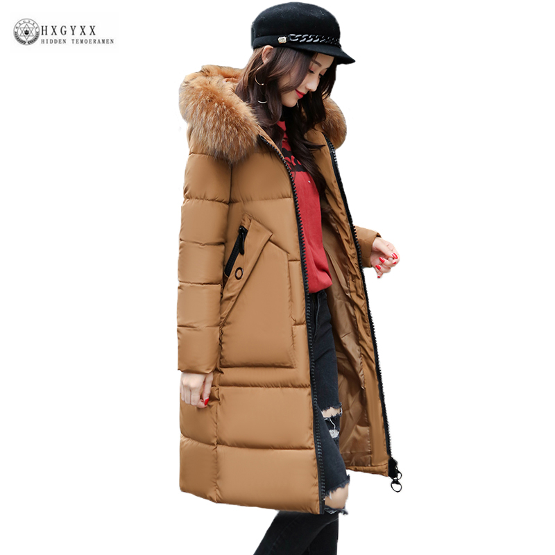 High Quality Winter Coat Women 2017 New Plus Size Thick Warm Cotton Jacket Female Fur Collar Hooded Long Parka Outerwear OK1016 high quality thick warm wind down jacket female fashion casual cotton coat women winter coat jacket warm long outerwear overwear