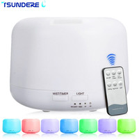 TSUNDERE L 300ML Aromatherapy Humidifier Essential Oil Diffuser Remote Mechanical Universal 7 Color Changes For Home