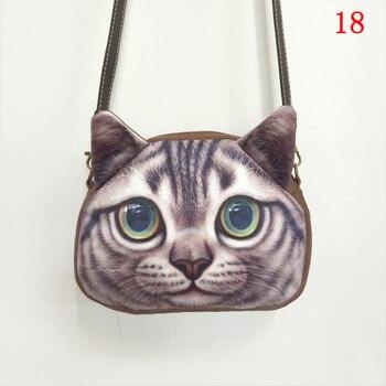 3D cat Animal Printing messenger bag retro Shoulder Bag dog bolsas feminina small chain bag bolsa feminina purses and handbag