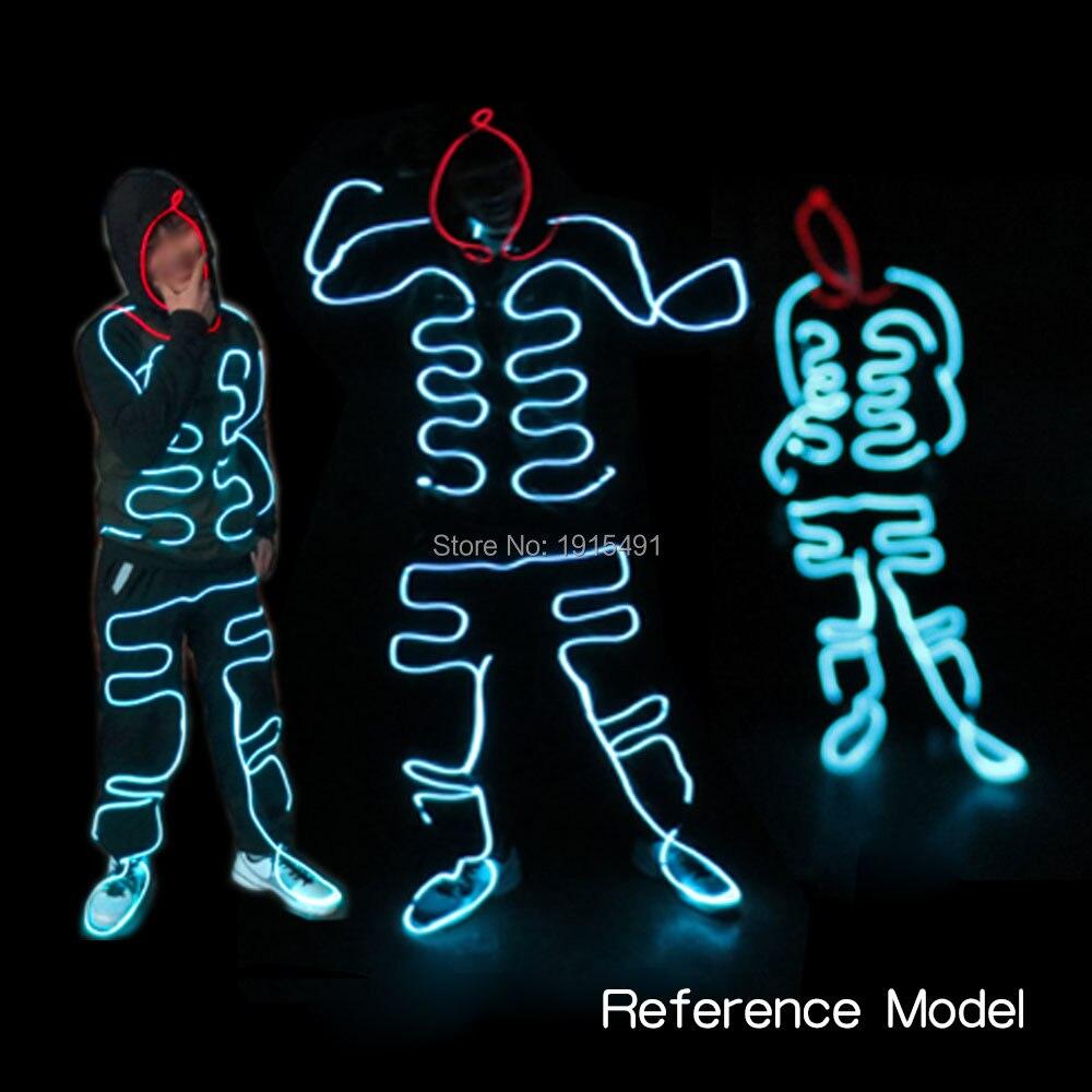 Nouveauté drôle éclairer lumineux Costume Rave fête lumières Halloween vêtements fête faveurs Led néon nouveauté costumes de noël