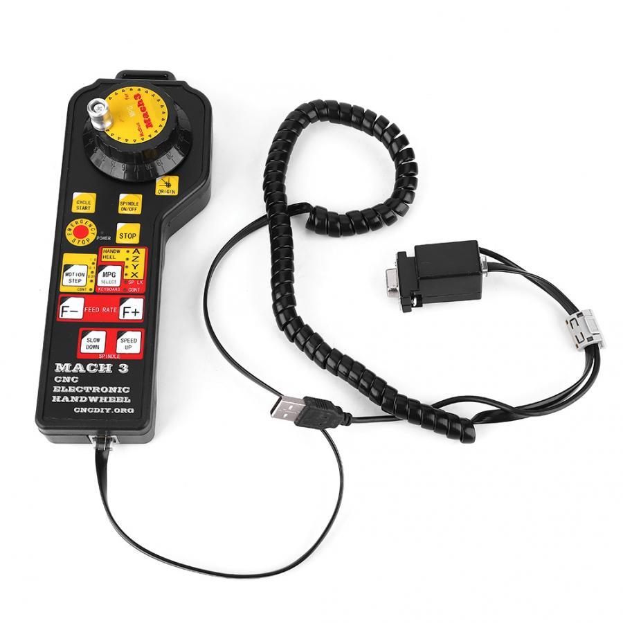 Mach3 3 Axis USB Manual Handheld Electronic Handwheel for CNC Engraving Machine
