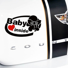Personalized Baby Inside Angel Baby English Composition Reflective Car Stickers JSD-1121