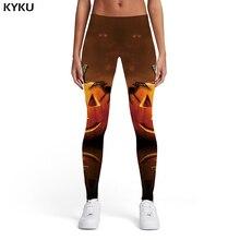 KYKU Halloween Leggings Women Pumpkin Sport Spider 3d Print Animal Elastic Party Ladies Womens Leggings Pants Jeggings Fashion