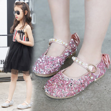 New Crystal Sandals Girls Shiny Summer Shoes Children Beach Sandalias For Princess Kids Size Pu