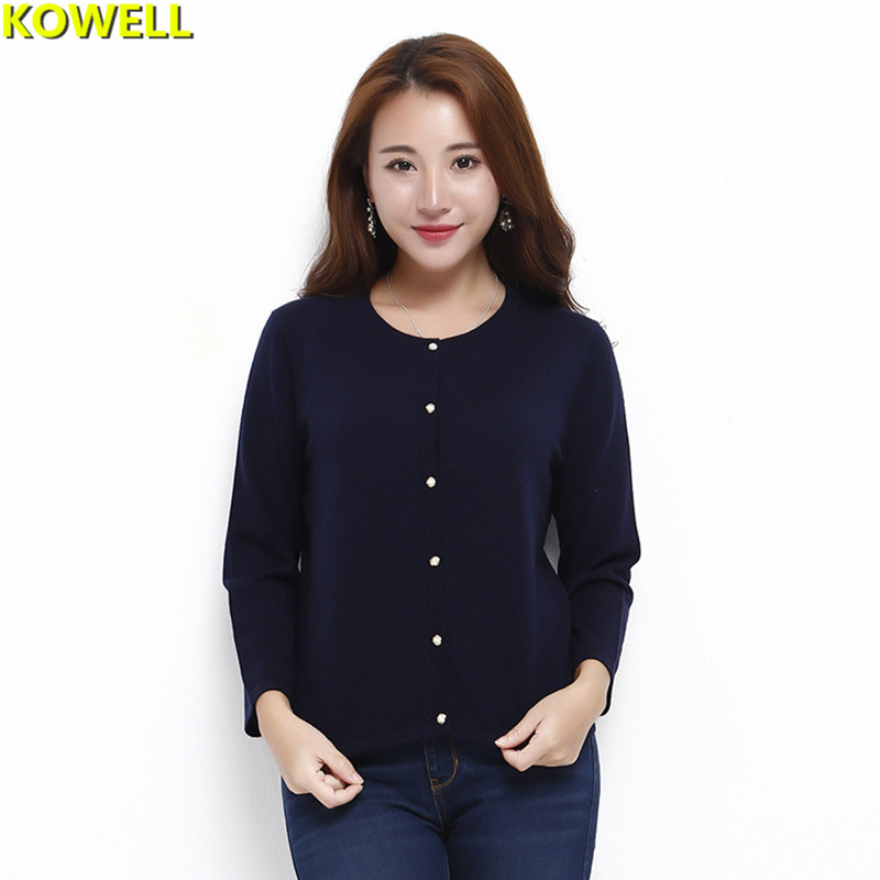 Hot Sale 2018 Womens Clothing Loose Sweater Spring Casual Cardigans O-Neck Solid Color Full Sleeve Knitted Single Breasted Tops