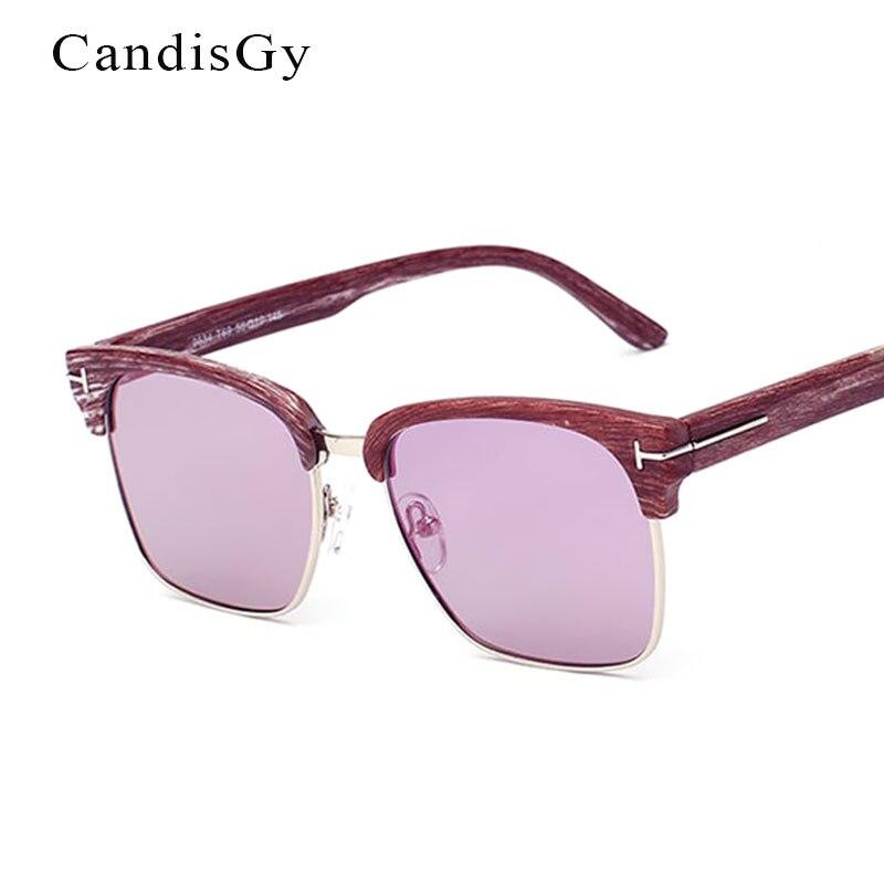 4da831e74 Metade Aros UV400 Óculos de Sol Loja Online Marca Designer Shades Plástico  Das Mulheres Dos Homens óculos de Sol Unissex Espelho Quadrado De Madeira  ...