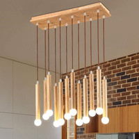 Northern Europe Modern Creative Restaurant Chandelier Personality Wooden Study Balcony Aisle Wood Chandelier Free Shipping