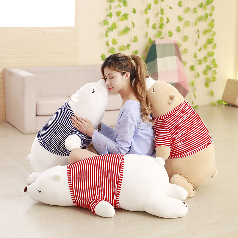45cm children Stuffed Animal Toy Doll Cushion Super Soft Polar Bear Plush Peluches Animal Toy Pillow Kids Birthday Christmas Gif couple frog plush toy frog prince doll toy doll wedding gift ideas children stuffed toy