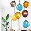 Eusolis Moderne Anhänger Lichter Candy Kleur Ijs Glas Beleuchtung Plafond Opknoping Lampe Hanglamp Hängen Licht Lustre Led-in Pendelleuchten aus Licht & Beleuchtung bei