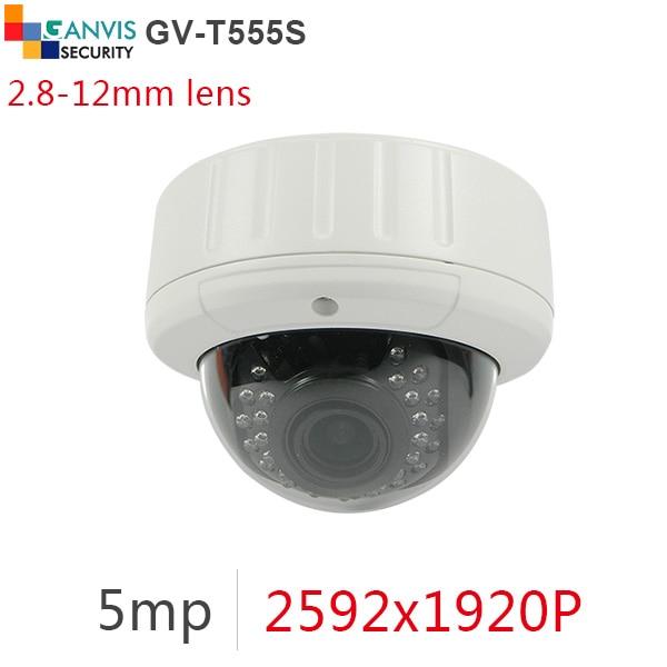 ФОТО 2.8-12mm wide angle super HD 5mp IP camera outdoor metal dome cctv cameras 1080P full hd surveillance camera GANVIS GV-T555S b