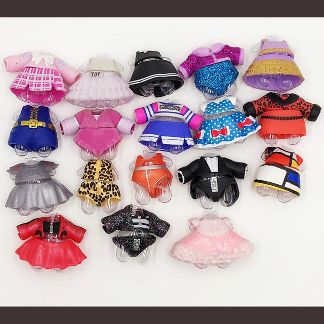 100% roupa Da Boneca Série 4 LOL Original UM grande número de estilos de roupas à venda LOL lol bonecas bonecas de coleção o transporte da gota