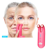 Electronic RF Massager Eye Wrinkle Removing Pen Vibration Massage Micro Current Dual Probe Face Beauty Bright Lifting Instrument