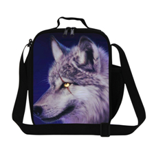 17 2015 New Fashion Kids Lunch Bags 3D Animal Printing Lunch Bags for Students Tiger Lunchbox Children Outdoor Picnic Lunch Bags