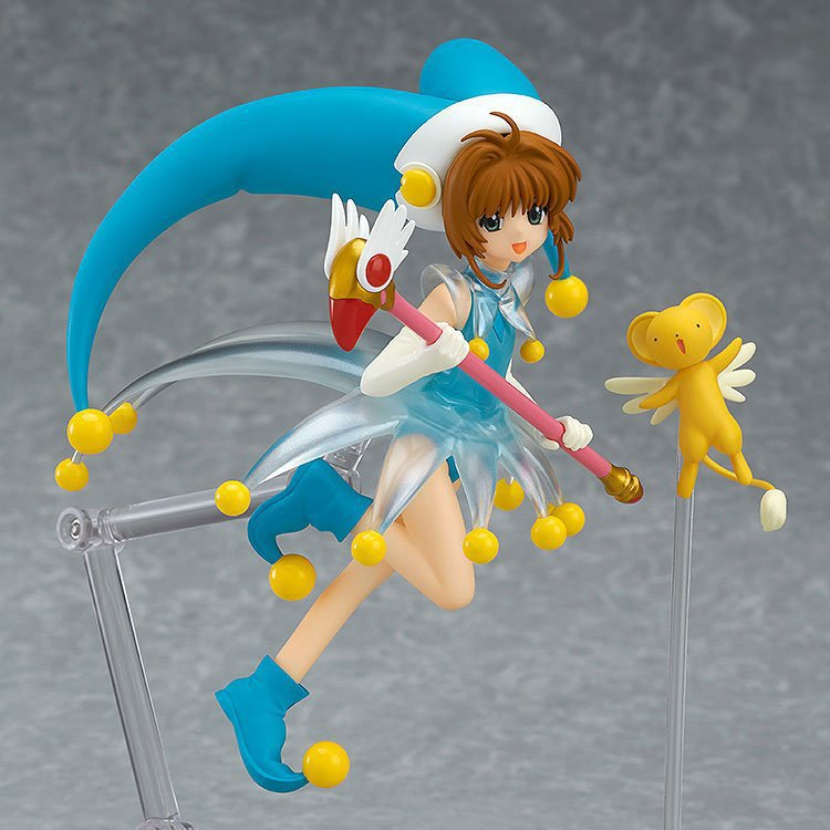 Tobyfancy Sakura Card Captor Action Figures Figma Anime Cardcaptor Magic Girl Blue Sakura 140mm Collectible Model Toy