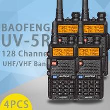 4 قطعة Baofeng UV 5R 5 واط اسلكية تخاطب UV 5R قوية الهواة هام CB محطة راديو UV5R المزدوج الفرقة المحمولة جهاز الإرسال والاستقبال Hu