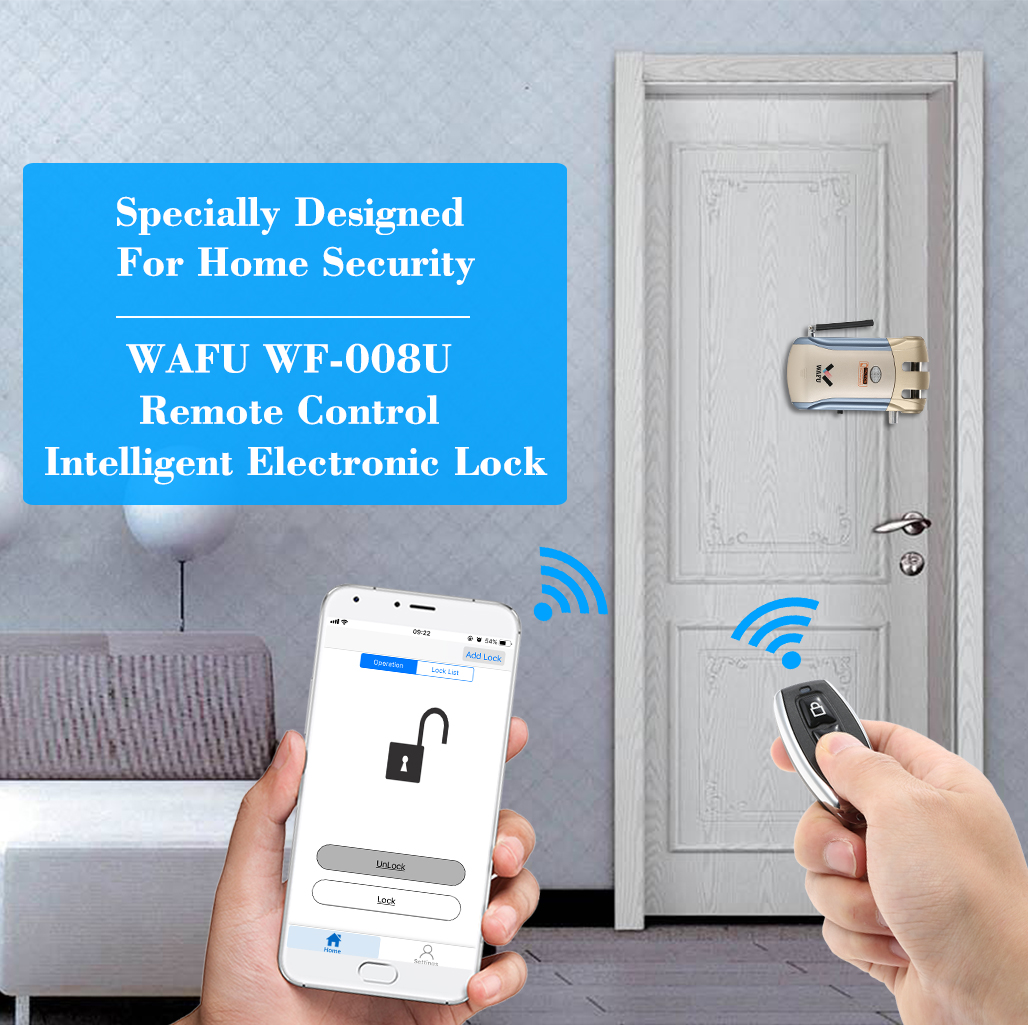 Image 4 - WAFU WF 008U App Door Lock Bluetooth Door Lock Remote Control Door Lock-in Electric Lock from Security & Protection