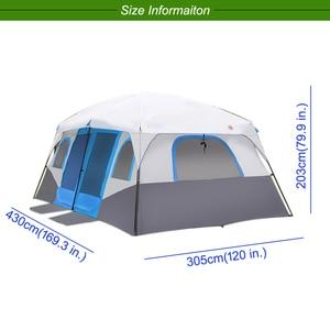 Image 4 - גדול משפחת קמפינג אוהלי בקתת חיצוני אוהל עבור 8 10 12 אדם אירוע Marquee אוהלי