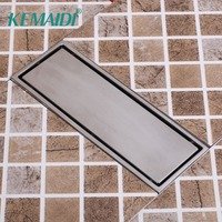 KEMAIDI Luxury Bathroom Drains Rectangle Type 304 Stainless Steel Bathroom Linear Shower Floor Drain Srainer 300mm x 110mm