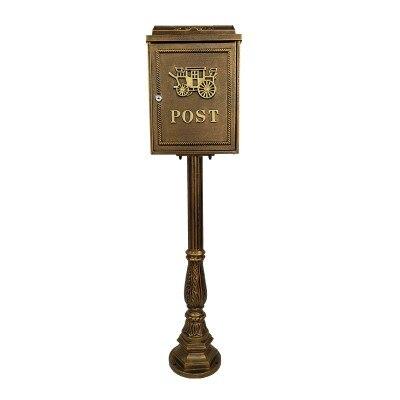 Вертикальный почтовый ящик из алюминиевого сплава вертикальный металлический ящик для почтовыx писeм деревенский почтовый ящик садовый уличная поставка - Цвет: Многоцветный