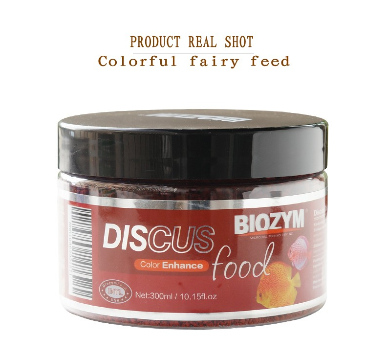 BIOZYM Colorful Fairy Feed Discus Color Enhance Food Microbial Pellet Feed High Nutrition And High Protein Adding Probiotics