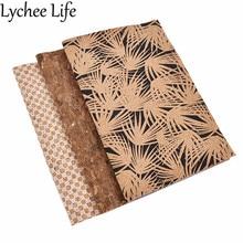 Lychee Life A4 Soft Cork Fabric 29x21cm DIY Handmade Modern Home Sewing Clothes Garment Textile Supplies Accessories
