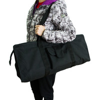Black Yoga Bag For Mat Canvas Yoga Mat Bag Waterproof Fitness Sports Gym Pilates Dance Large Capacity Yoga Storage Case Backpack