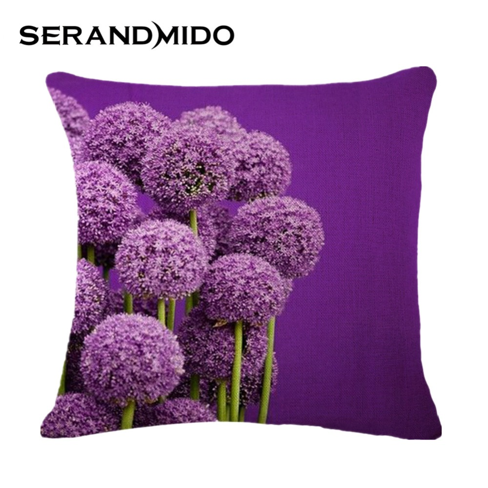 online buy wholesale purple throw pillow from china purple throw  - cheap purple throw pillow covers fashion printed cotton linen square cushioncases for sofa car decor