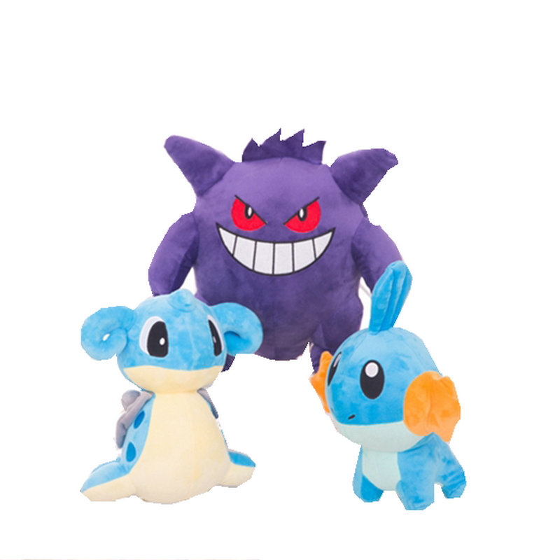36CM Gengar high quality plush toys for children Gift Soft Cute Cartoon Monster Anime Lapras Kawaii pikachu 22cm pikachu plush toys children gift cute soft toy cartoon pocket monster anime kawaii baby kids toy pikachu stuffed plush doll