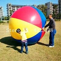 Бесплатная доставка бассейн играть вечерние воды игра воздушные шары пляжный спорт мяч дети весело игрушки Цветной надувные 2 м мяч шары