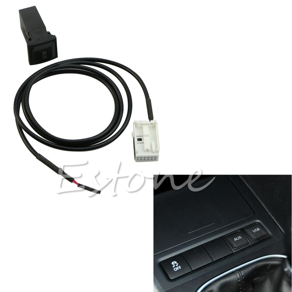 NoEnName_Null C18 2015 Newest Hot New for VW Jetta MK5 Scirocco Golf GTI MK5 MK6 RNS510 RCD510 AUX In Socket&Cable цена