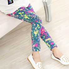 Kids Pant Leggings 2018 Spring Summer New Fashion Children's 2-14 Year Cotton Pant Girls KidsTrousers Print Legging 18 Colors(China)