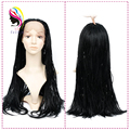Synthetic Box Micro Braid Lace Wig Hair Braided Lace Front Wigs For Black Women African American Braided Wigs Black Women 24""