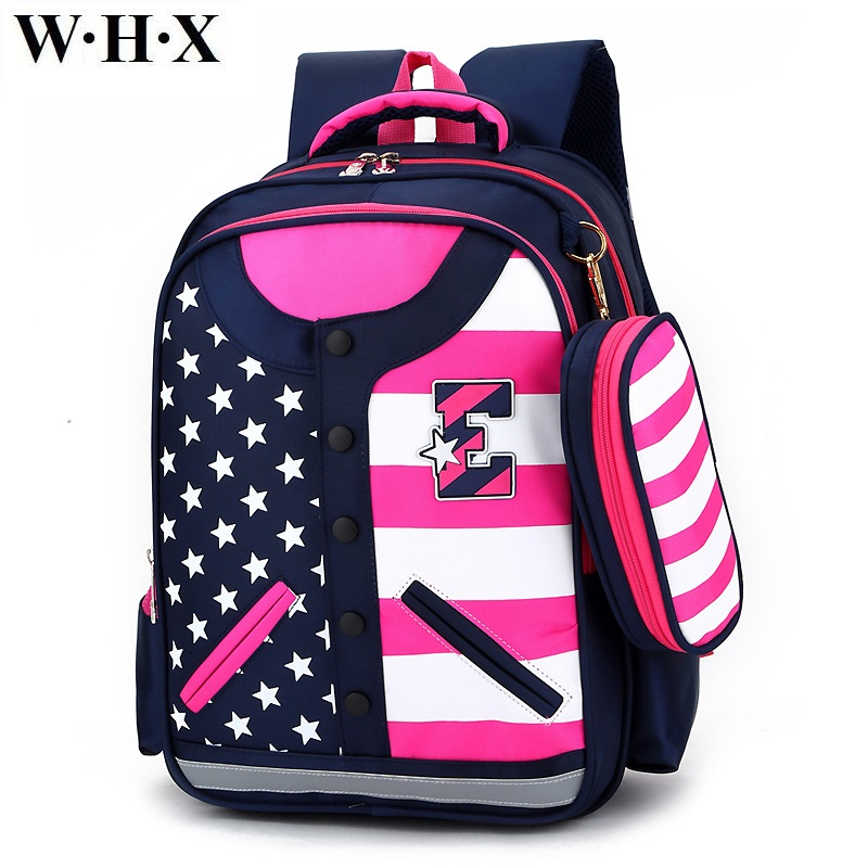 WHX Children School Bag Girl Backpack Child Girls Backpacks Book Bag Kid Oxford Cloth Knapsack Satchel Student Pencil Bags New oxford team student s book 1